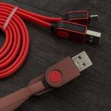 acessórios para telemóvel Mobile Snakeskin Fio plana colorido cabo de dados USB Micro cabos do carregador de cabo USB trançada