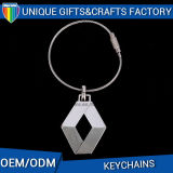 Hot Sale Custom Metal Fashion Shape Keychain com presente personalizado