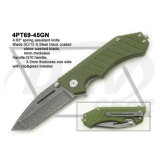 "4.5 ""Fecho fechado Liner Lock G10 Handle Knife com pedra lavada: 4PT113-45bk"