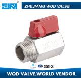 Нержавеющая сталь 316 Mini 1PC шарового клапана (valvula)