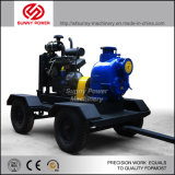 Pompe à eau diesel pour l'irrigation avec le cas d'épreuve de remorque/temps