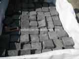 Il granito nero Cobbles la pietra nera del cubo del basalto