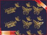 Etiqueta de Transferência de Calor Metallice ouro ferro na etiqueta da roupa