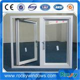 PVDF superficie tratada marco de aleación de aluminio de ventana de bisagras