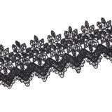 Colares Handmade personalizadas novas quentes do Choker da indicação da flor do Crochet do preto do projeto largamente