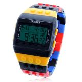 Silicon 시계 줄 Ws 821 (Colorful)를 가진 Per $150 Order Exquisite Shhors 다중 Function Green LED Sport Watch 떨어져 $15