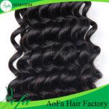 Глубокую кривой человеческого волоса Реми бразильского природных волос
