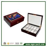 Almacenamiento multi del compartimento de caja de reloj de madera