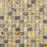 Shell van het Bouwmateriaal Tegel van de Steen van het Mozaïek van de Tegel van het Mozaïek de Beige Marmeren