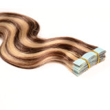 "Piano Color Remy Tape in Hair Extensions su nastro Weft Hair Straight 20PCS Invisable Tape Hair 22 "" Seamless Skin Weft Hair"