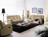 Alto sofá de cuero cómodo posterior del Recliner