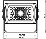 Cámara impermeable del coche del lado 12V del color para el carro