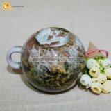 Insignia de cerámica formada vientre grande de la aduana de la impresión de la taza de café de la capacidad