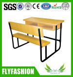 Vector de madera barato de la escuela con el banco Sf-46D