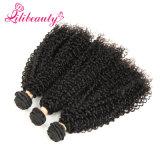 Capelli umani naturali della cuticola piena crespa mongola dei capelli ricci