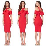 Dame-Partei-Kleid mit Sleeveless rotem Kleid