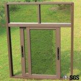 苦境の窓ガラスK01044が付いている粉の上塗を施してある三日月形ロックのアルミニウムスライディングウインドウ