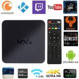Caixa de TV 4K Mxq totalmente carregado o Android 4.1.0 Amlogic S805 Kodi Chips de suporte pré-instalação 1080P HD, Ethenet WiFi