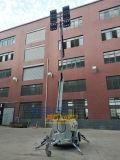 道路工事9mの油圧マスト6X480W LED軽いタワー