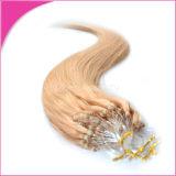 Estensioni indiane all'ingrosso dei capelli dell'anello dei capelli umani di Remy micro