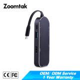 3 порта с разъемами RJ45 сетевого адаптера USB 3.0 типа C тип C для концентратора USB 3.0 OTG с сети Ethernet для сетевого адаптера для MacBook