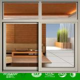 Finestra di scivolamento di alluminio verticale per la parete esterna