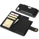 カード袋が付いているフリップ本の革箱