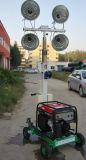 400W * 4 de metal de la torre de luz de haluro móvil con generador diesel