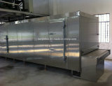 Congelador rápido do túnel para o papa de aveia do pão dos bolinhos de massa do camarão dos peixes