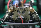 2.4G 1/10th do chassi elétrico sem escova do metal da potência do carro da escala RC velocidade rápida