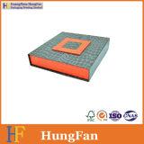 Caja de embalaje de la insignia del regalo de encargo de la impresión y rectángulo de regalo del papel de la cartulina del plegamiento