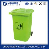Coffre d'ordures en plastique à roues d'usage extérieur respectueux de l'environnement de caractéristique