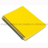 Novo Chegou no atacado barato de plástico PP espiral caderno espiral (PPN226)