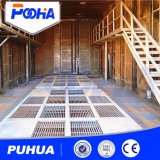 Grande pièce de soufflage de sable de structures métalliques de vente chaude avec le système de réutilisation abrasif automatique