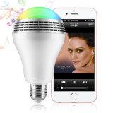 La reproducción de música inalámbrica baratos RGBW altavoz Bluetooth con luces LED Lámpara de control de la App.