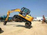 Máquina escavadora barata hidráulica USD 25000 da roda da máquina escavadora