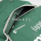Saco do mensageiro da cor verde com a cinta de ombro cinzenta do Webbing