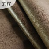 2015本のよこ糸のスエードのソファーファブリック