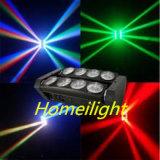 6PCS 8 luz principal móvil de la viga de la araña de los ojos RGBW 4 In1 LED para la demostración del club nocturno de la etapa del disco