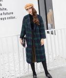 Cappotto lungo allentato del plaid di Londra per i vestiti delle donne