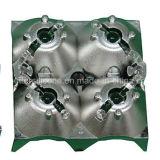 Galvanisierende Aluminiumleuchte-Abdeckung der schichts-LED