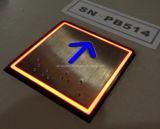 Quadratische Höhenruder-Taste mit buntem Licht (SN-PB514)