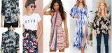 織物の製造業者からの印刷されたレーヨンファブリックに着せている女性