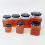 蜂蜜、食糧、ピクルス、ガラス記憶のびんのための正方形のガラス瓶