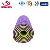 Couvre-tapis de yoga de bande de couleur de double de confort de qualité