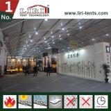 6mの側面の高さ展覧会の玄関ひさしが付いている50mのゆとりのスパンのテント