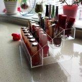 Crémaillère acrylique claire à gradins de vernis à ongles