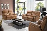 El sofá de la sala de estar con el sofá moderno del cuero genuino fijó (794)