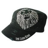 Le meulage lavés Crystal Diamond Rhinestone Loisirs chapeau militaire (TM1996)