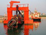 金の浚渫のためのカッターの吸引の浚渫船